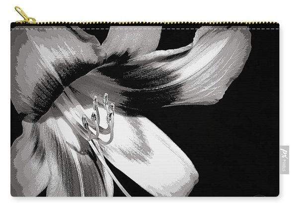 Daylily In Gray Carry-all Pouch