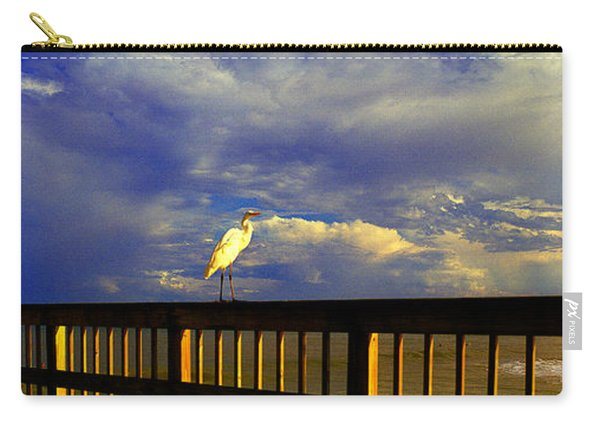 Daytona Beach Rail Bird Sun Glow Pier  Carry-all Pouch