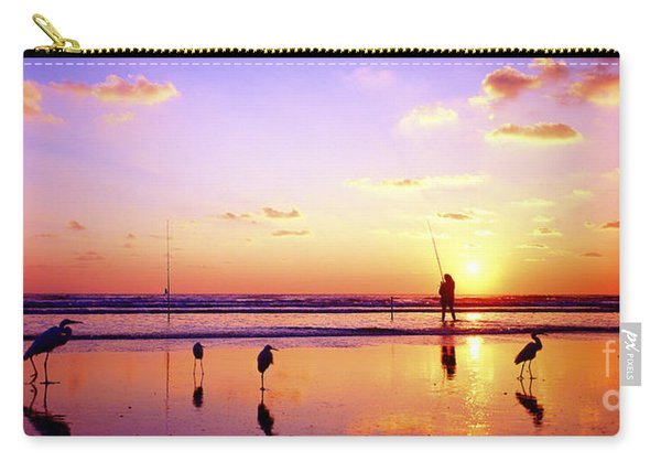 Daytona Beach Fl Surf Fishing And Birds Carry-all Pouch