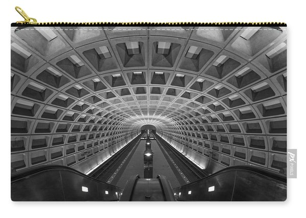 Carry-all Pouch featuring the photograph D.c. Subway by Dustin  LeFevre