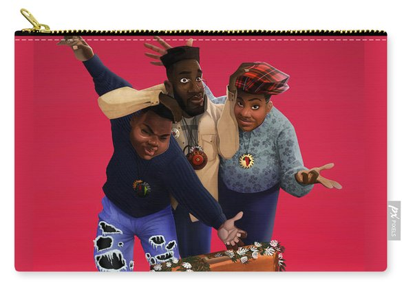Carry-all Pouch featuring the drawing De La Soul by Nelson  Dedos Garcia