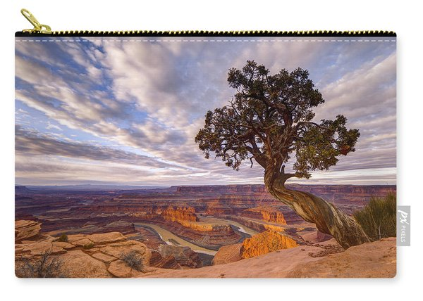 Carry-all Pouch featuring the photograph Dead Horse Point Sunrise by Dustin  LeFevre