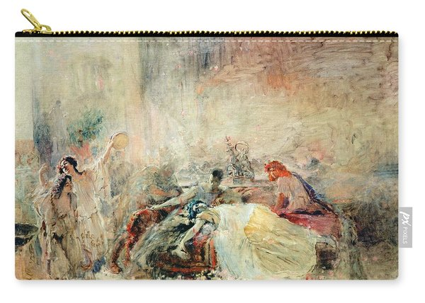 Death Of Claudius Caesar Nero Ad 37-68 Oil On Canvas Carry-all Pouch