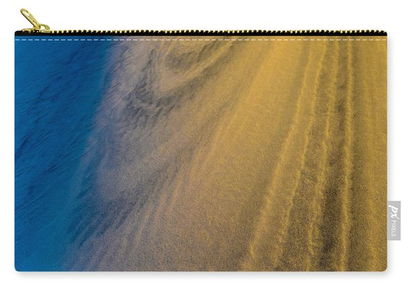Death Valley Sunset Dune Wind Spiral Carry-all Pouch