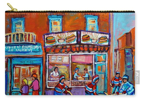 Decarie Hot Dog Restaurant Ville St. Laurent Montreal  Carry-all Pouch