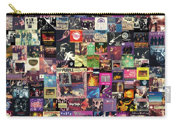 Deep Purple Collage Carry-all Pouch
