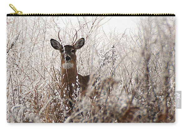 Deer In Winter Carry-all Pouch