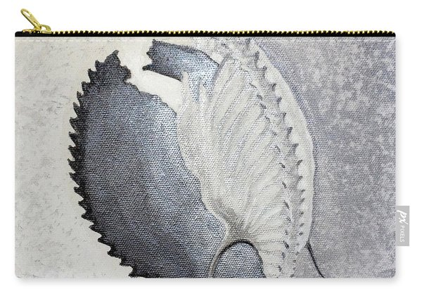 Carry-all Pouch featuring the painting Delicata II Detail by Ashley Kujan