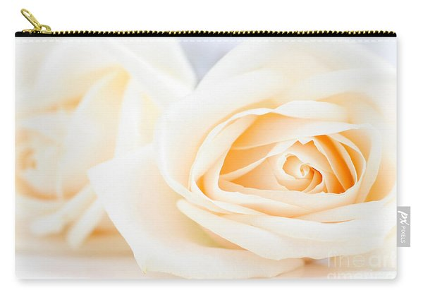 Delicate Beige Roses Carry-all Pouch