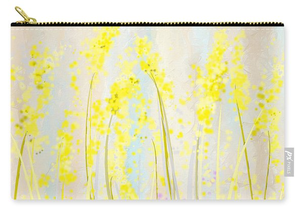 Delicately Soft- Yellow And Cream Art Carry-all Pouch