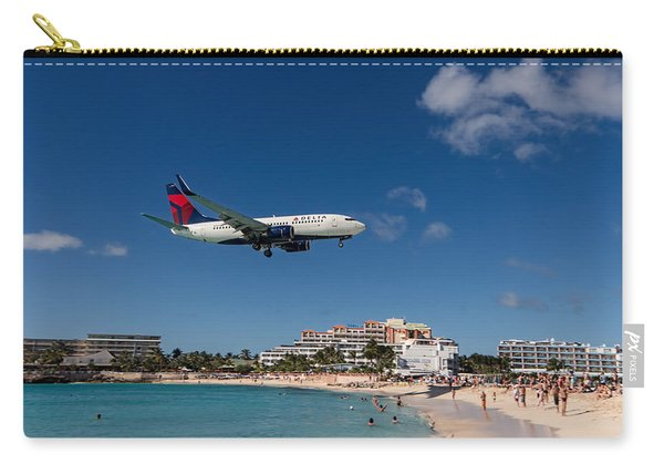 Delta 737 St. Maarten Landing Carry-all Pouch
