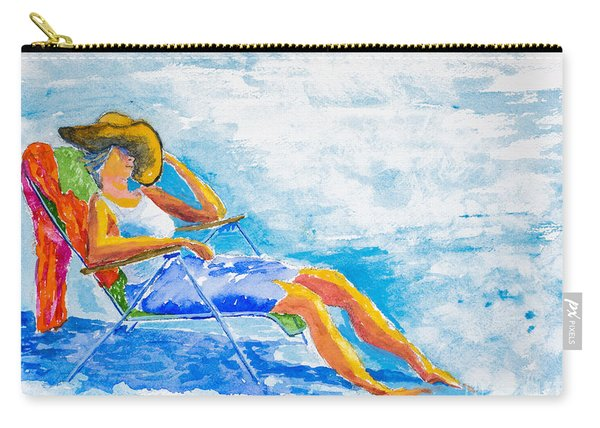 Dena At The Beach Carry-all Pouch