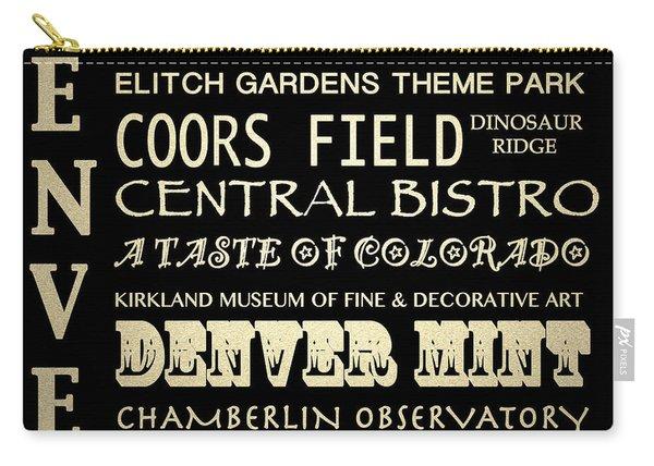 Denver Colorado Famous Landmarks Carry-all Pouch