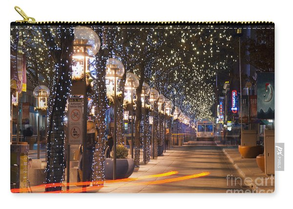 Denver's 16th Street Mall At Christmas Carry-all Pouch