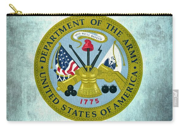 Department Of The Army Seal On Canvas Carry-all Pouch