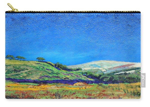 Derbyshire Landscape, 1999 Oil On Board Carry-all Pouch