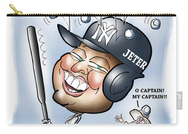 Carry-all Pouch featuring the digital art Derek Jeter by Mark Armstrong