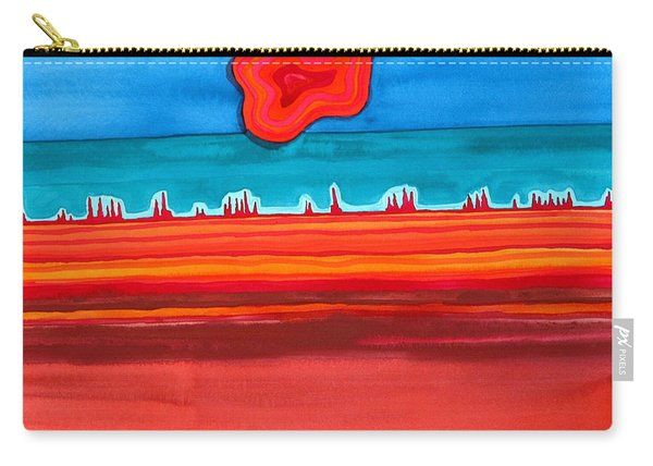 Desert Cities Original Painting Sold Carry-all Pouch