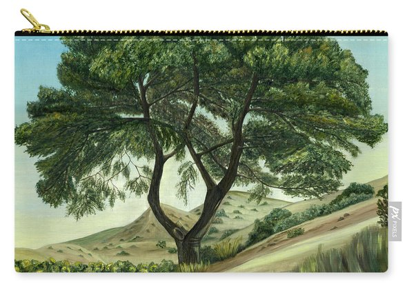Carry-all Pouch featuring the painting Desert Pine by Angeles M Pomata