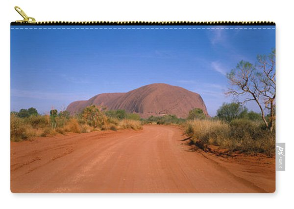 Desert Road And Ayers Rock, Australia Carry-all Pouch