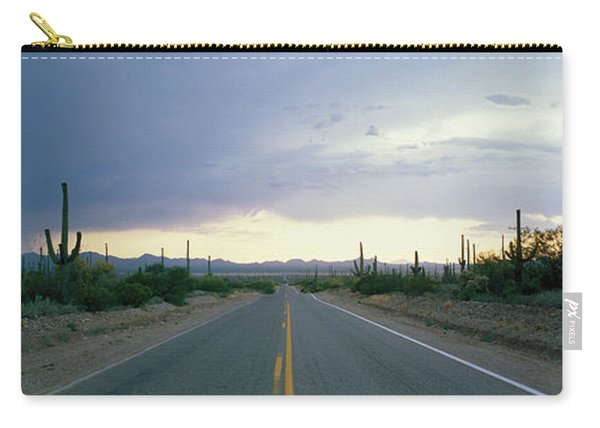 Desert Road Near Tucson Arizona Usa Carry-all Pouch