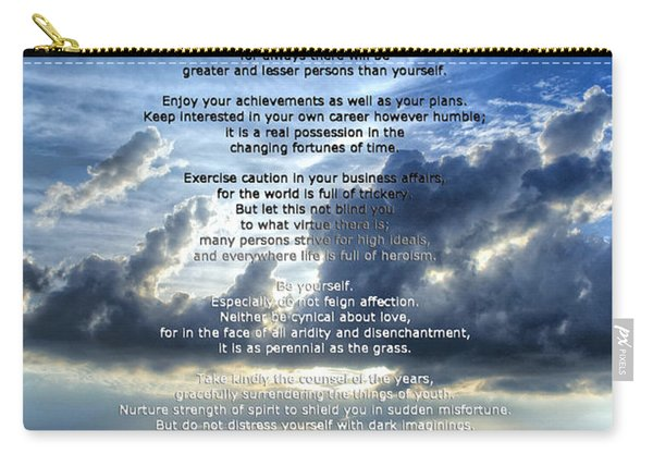 Desiderata 7 - Inspirational Art By Sharon Cummings Carry-all Pouch