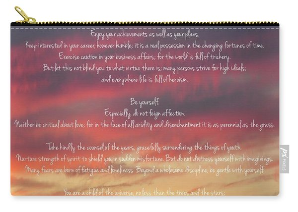 Desiderata Sky 2 Carry-all Pouch