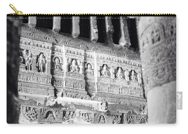 Details Of Carvings In Ajanta Caves Carry-all Pouch