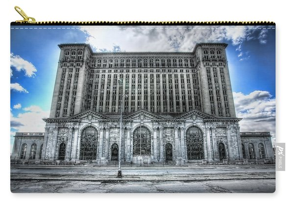 Detroit's Abandoned Michigan Central Train Station Depot Carry-all Pouch