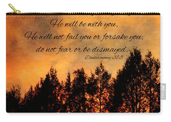 Deuteronomy The Lord Goes Before You Carry-all Pouch