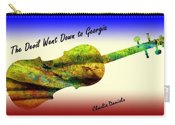 Devil Went Down To Georgia Daniels Fiddle  Carry-all Pouch
