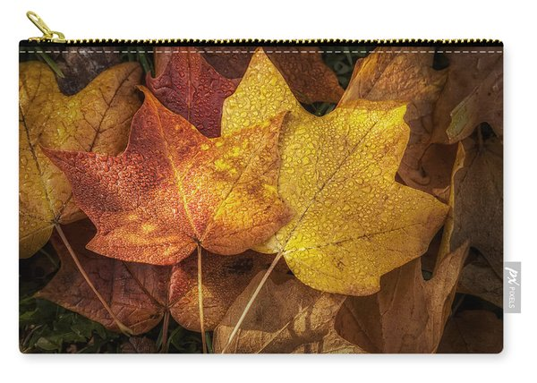 Dew On Autumn Leaves Carry-all Pouch