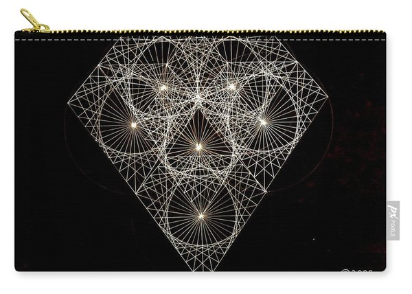 Diamond White And Black Carry-all Pouch