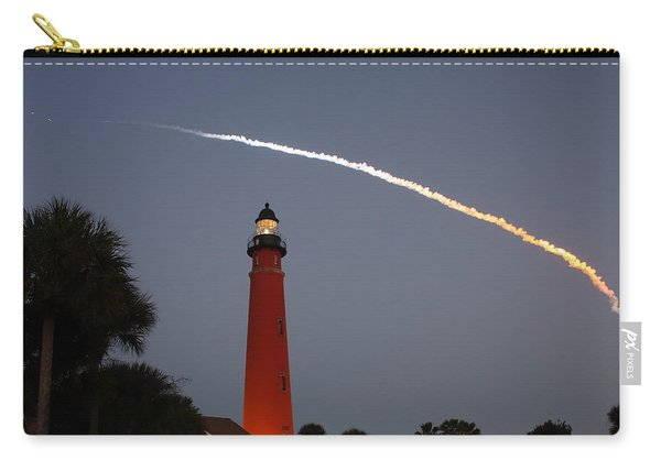 Discovery Booster Separation Over Ponce Inlet Lighthouse Carry-all Pouch