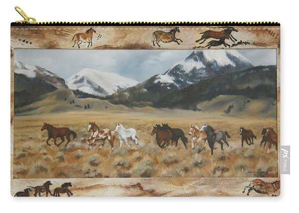 Discovery Horses Framed Carry-all Pouch