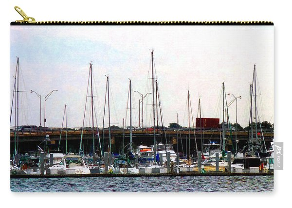 Docked Boats Norfolk Va Carry-all Pouch