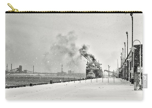 Carry-all Pouch featuring the photograph Dockyard by Garvin Hunter