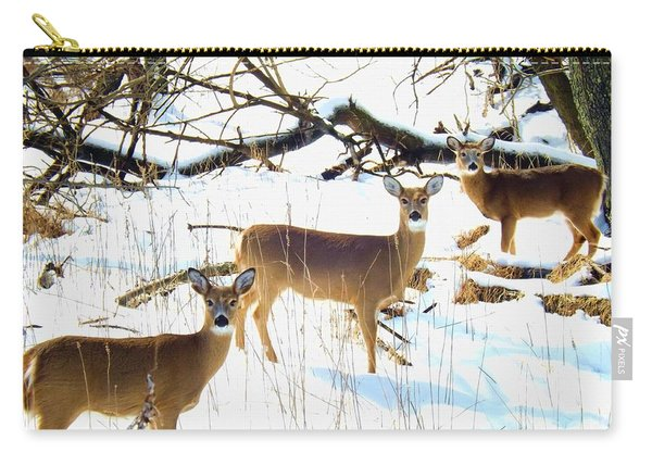 Does In The Snow Carry-all Pouch