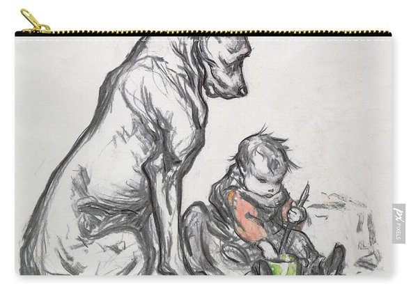 Dog And Child Carry-all Pouch