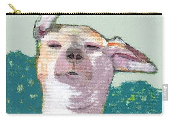 Dog In Wind Carry-all Pouch