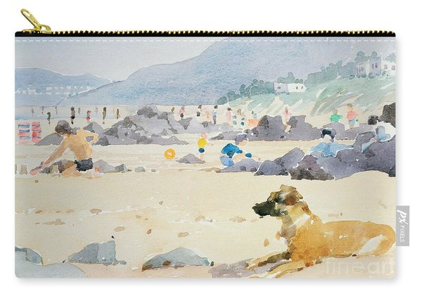Dog On The Beach Woolacombe Carry-all Pouch