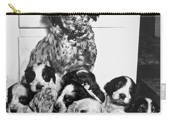 Dog With Twelve Puppies Carry-all Pouch