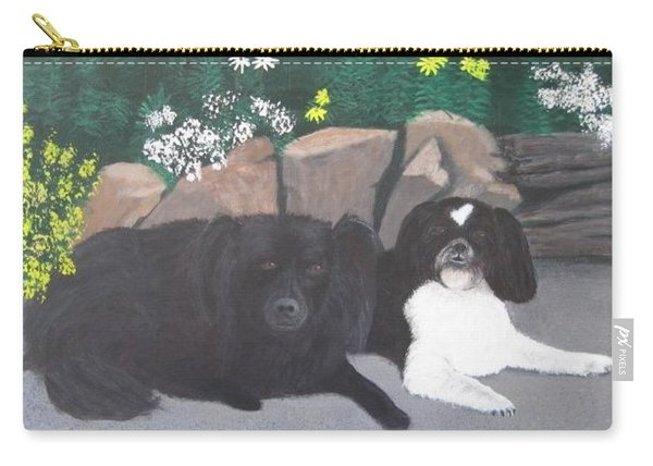 Dogs Daisy And Buttons Carry-all Pouch