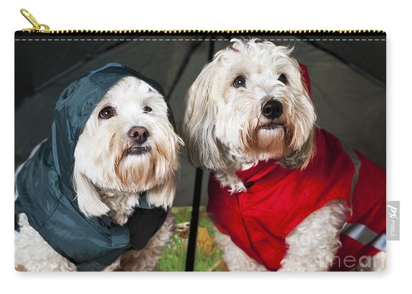 Dogs Under Umbrella Carry-all Pouch