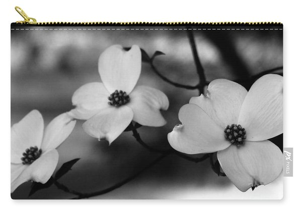 Dogwood Black And White Carry-all Pouch