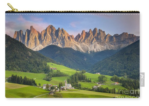 Carry-all Pouch featuring the photograph Dolomites From Val Di Funes by Brian Jannsen
