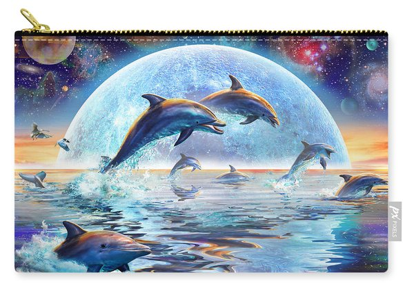 Dolphins By Moonlight Carry-all Pouch