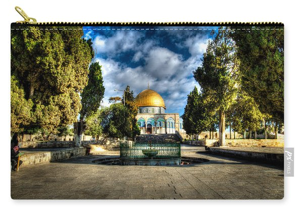 Dome Of The Rock Hdr Carry-all Pouch