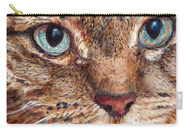 Domestic Tabby Cat Carry-all Pouch