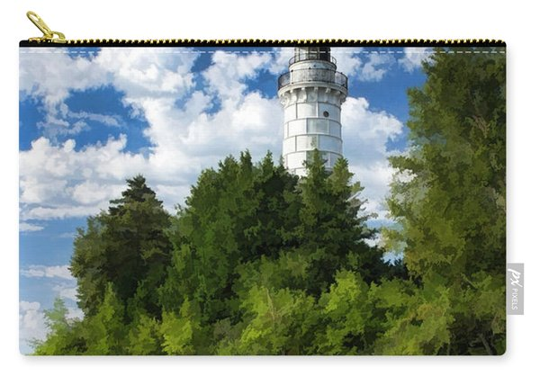 Cana Island Lighthouse Cloudscape In Door County Carry-all Pouch